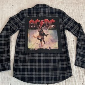 NWT Vintage Re-Mastered AC/DC Collab. Flannel